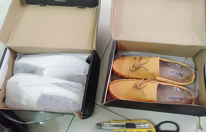 nhập giày trung